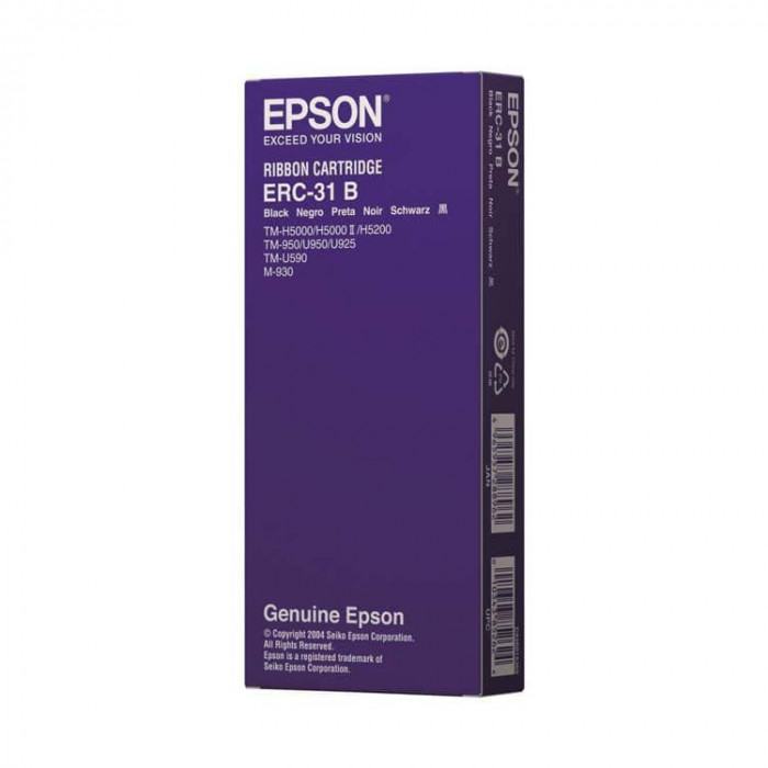Epson ERC 31, Black Ribbon / Ribbon for TM-H 5000, TM-U 950, TM-U 925, TM-U 590