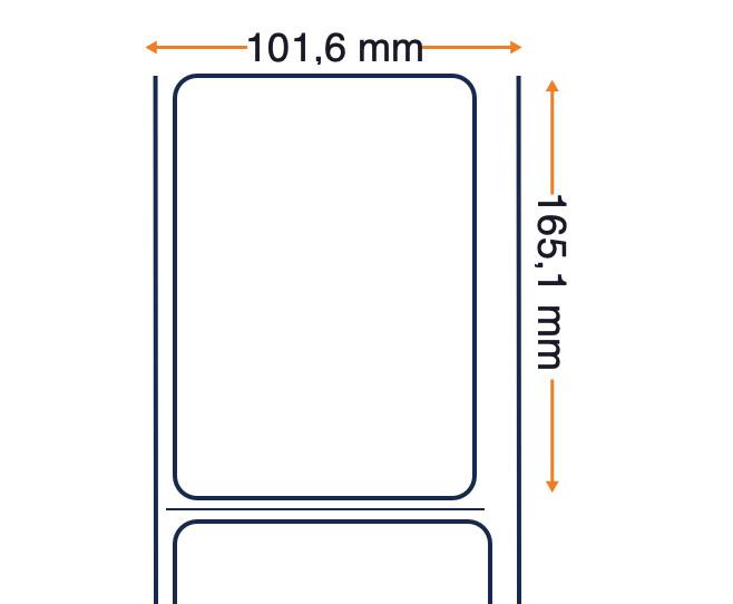 Carta Honeywell Duratran IIE, rotolo di etichette, carta comune, 101,6x165,1 mm, 8 pezzi.