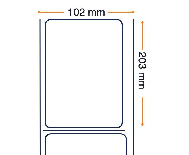 Zebra Z-Perform 1000D, Rollo de etiquetas, Papel térmico, 102x203mm, 12 unidades por caja