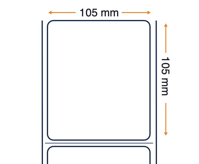 Zip Ship Desk Labels - LABEL - POLYETHYLENE - 105X105MM - THERMAL TRANSFER