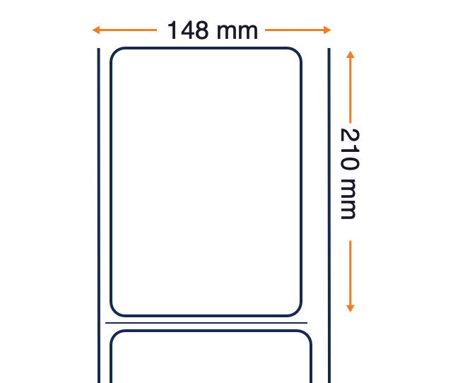 Tag Honeywell Duratran IIE, ticket, plastica, 148x209,6mm, 4 pz.