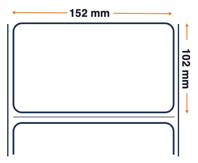 Zebra PolyO 3100T, Label Roll, Plastic, 152mm x 102mm, 4 Pc.