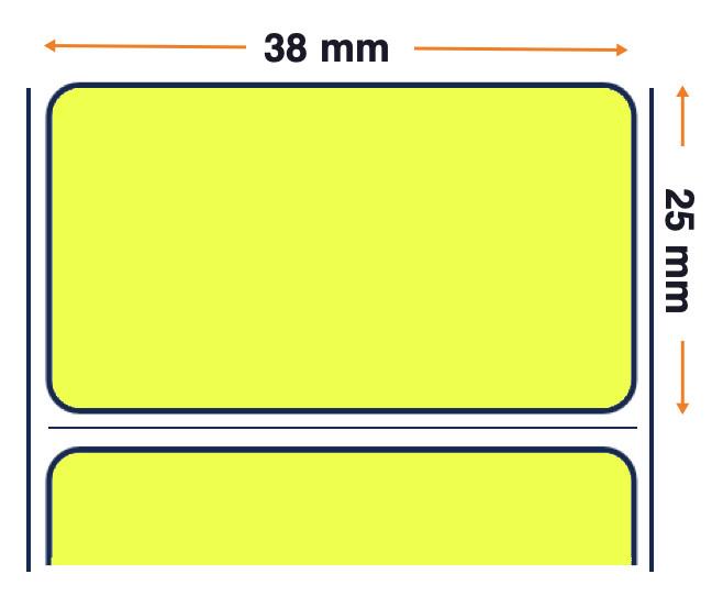 Honeywell Duratherm II Paper, Rollo de etiquetas, Papel térmico, 38,1x25,4mm, amarillo, 30 Unid
