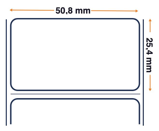 Honeywell Duratran II Gloss poliestere, rotolo di etichette, 50,8x25,4 mm, 8 pezzi.