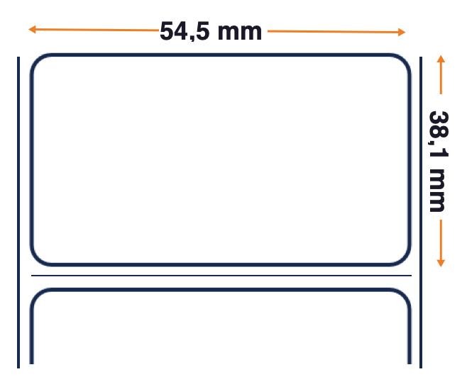 Z-Perform 1000D - Étiquette en papier thermique directe non couchée économique - Adhésif permanent - 54,5 mm x 38,1 mm