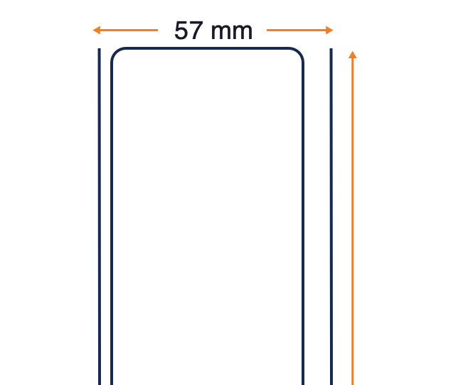 Zebra Z-Perform 1000D 80, Ticketrolle, Thermopapier, 57 mm