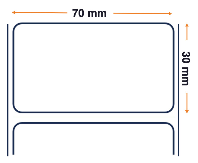 Z-Perform ™ 1000D - Direct Thermal Uncoated Paper Label - Permanent Acrylic Adhesive - 70mm x 38mm