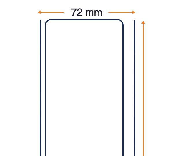 Rotolo scontrini, Carta termosensibile, 72 mm