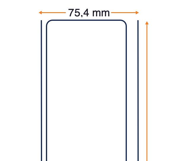 8000D 10 Jahre - unbeschichtet - 60 Mikron direktes thermisches Empfangspapier - 75 mm x Forts.