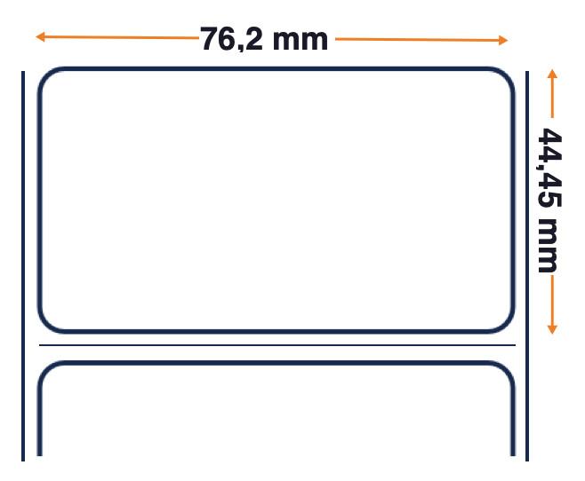 Z-Select 2000D - Premium-Etikett mit direktem Thermopapier - Abnehmbarer Klebstoff - 76,2 mm x 44,45 mm