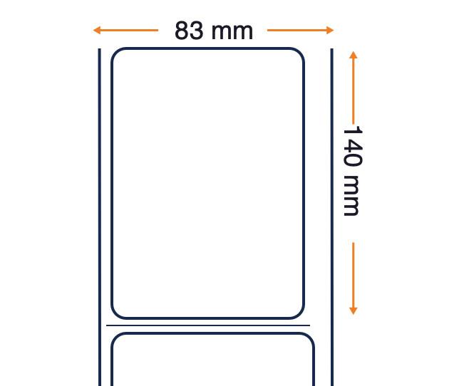 Zebra Z-Select 2000T, etichette, carta comune, 83x140mm, 6 pz.