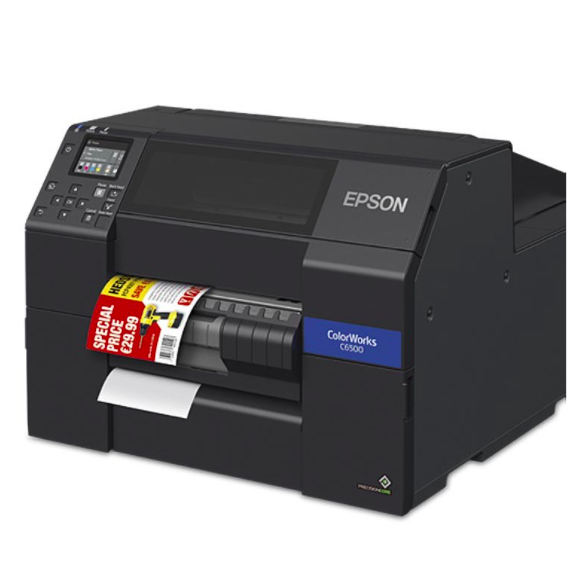 Epson ColorWorks CW C6500Pe, Abisolierer, Gerät, USB, Ethernet, schwarz