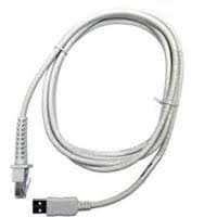 USB cable, straight, 2 m, type A, TPUW, color: white!