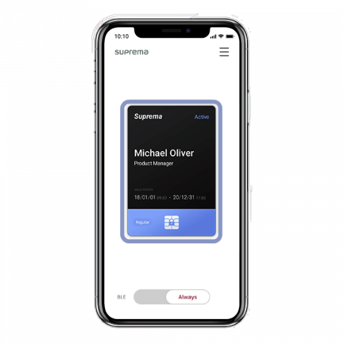 Mobile credential -mobile card credit (regular)