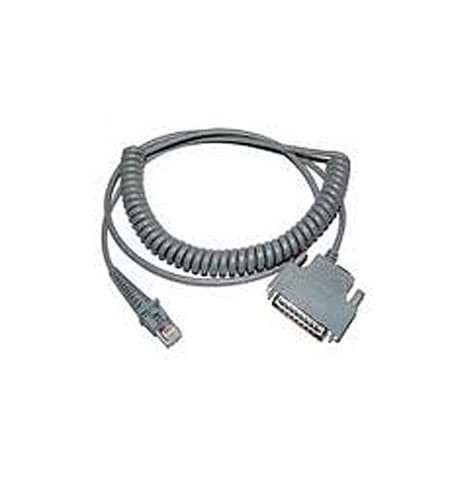 Cavo a spirale Datalogic RS232, connettore maschio a 25 pin