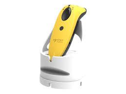 SocketScan S760 Universal Barcode Scanner & Travel ID Reader Yellow & White Dock,