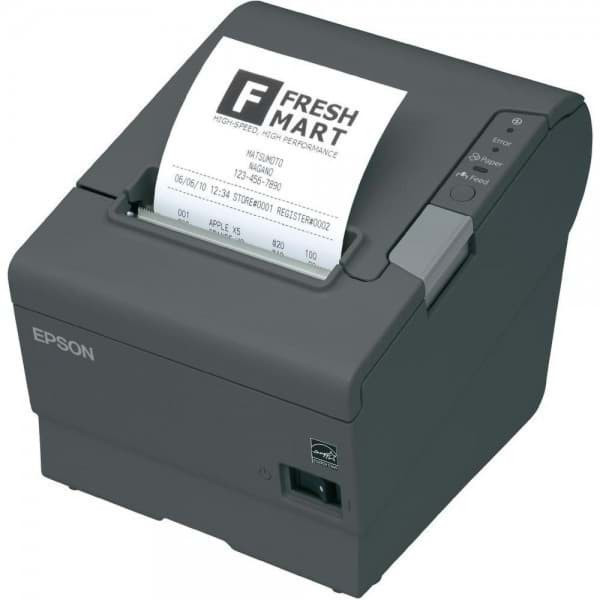 Epson TM-T88V, USB, RS232, with Power Supply, Dark Gray