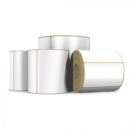 Etiqueta Primera poly Whithe Gloss 102x152 Banco Mate . 400 etiquetas rollo