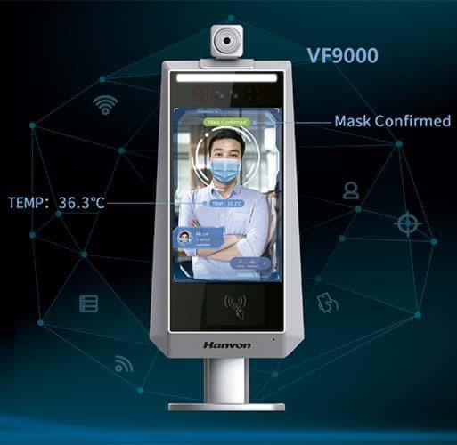 Hanvon FaceGo VF9000 Pared - Control de acceso facial con mascarilla y detección de fiebre