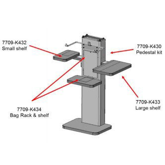 Portamaletas Para Pedestal Selfserv90