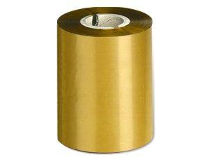 Ribbon 90mm x 300m Color Oro Mate, caja de 27 unid.