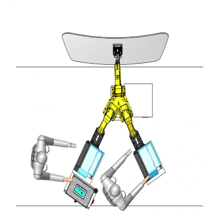 Système d'étiquetage automatique RobotApply avec imprimante industrielle