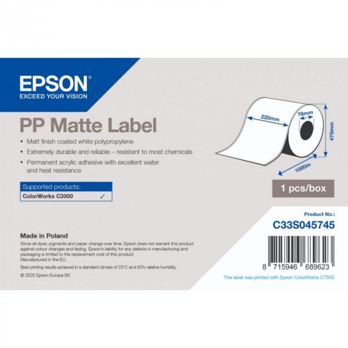 PP Matte Label - Coil 220mm x 1000lm