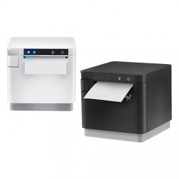 Thermal mC-Print3 3 pollici / 80 mm CLOUD, LAN, USB, ricarica USB e dati iOS, Bluetooth, USB Cloud + 2 porte host, taglierina, nero, versione EU e UK, alimentatore PS60C incluso
