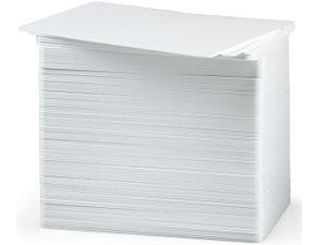 Karte, Kunststoff, CR80 / 030, PVC-Verbundwerkstoff, Weiß, Enthält (500)