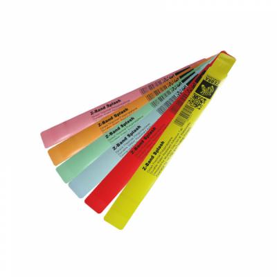 Z Band Fun - Braccialetti termici diretti in polipropilene - Giallo - Chiusura adesiva - Esposizione minima all'acqua - 25 mm x 254 mm. 350 uni