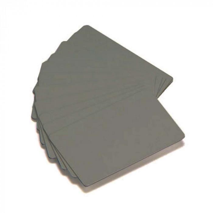 Zebra Premier Color PVC-Karten - Silber