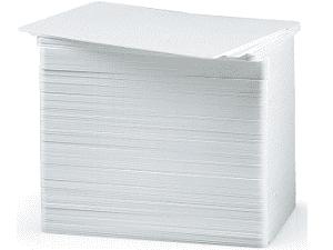 Zebra PVC Karten 10mm - Weiß 500 Einheiten