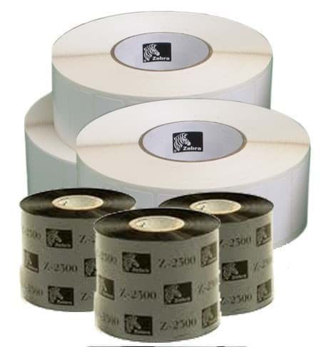 ZIPSHIPKIT4 - 51x25 Polyester / Zebra Tape Label Pack (1 x 880247-025D + 1 x 05095GS06407 Tape