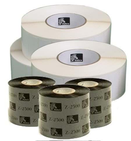 ZIPSHIPKIT5: Pack d'étiquettes (3 x 3006320) / Ruban Zebra 3 x 02000CT11007