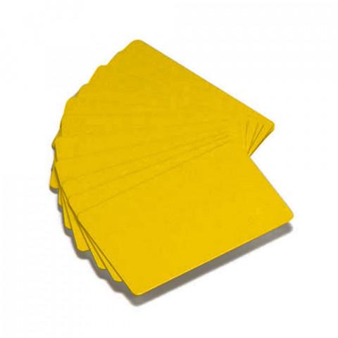 Cartes PVC Zebra Premier Color - Jaune