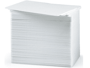 Cartes PVC Zebra 10mm - Blanc 500 Unités